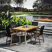 Amazonia Indiana 5-Pc. Rectangular Eucalyptus Outdoor Dining Set - Brown