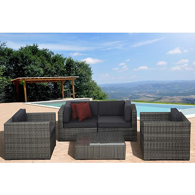 Atlantic Santa Cruz 5-Pc. Patio Set - Gray