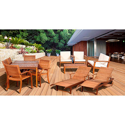 Amazonia Eucalyptus 13-Pc. Patio Set with Feron's Wood Sealer/Preserva