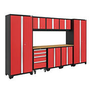 NewAge Products Bold 3.0 Series 9-Pc. Cabinet Set - Red