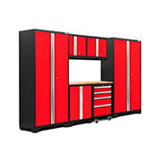 NewAge Products Bold 3.0 Series 7-Pc. Cabinet Set - Red