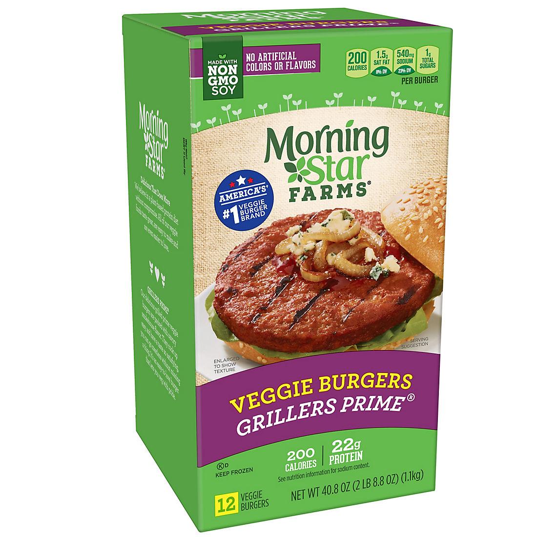 Morningstar Farms Grillers Prime Veggie Burgers 12 Ct