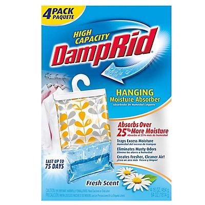 DampRid Hanging Moisture Absorber, Fresh Scent, 4 pk.