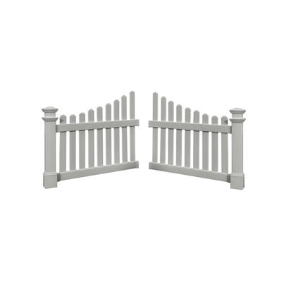 New England Arbors Cottage PVC Picket Wings - White
