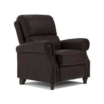 ProLounger Renu Leather Push-Back Recliner - Brown