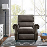 ProLounger Faux Leather Push Back Recliner - Gray