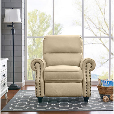ProLounger Faux Leather Push-Back Recliner - Latte Tan