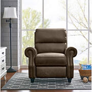 ProLounger Faux Leather Push-Back Recliner - Brown