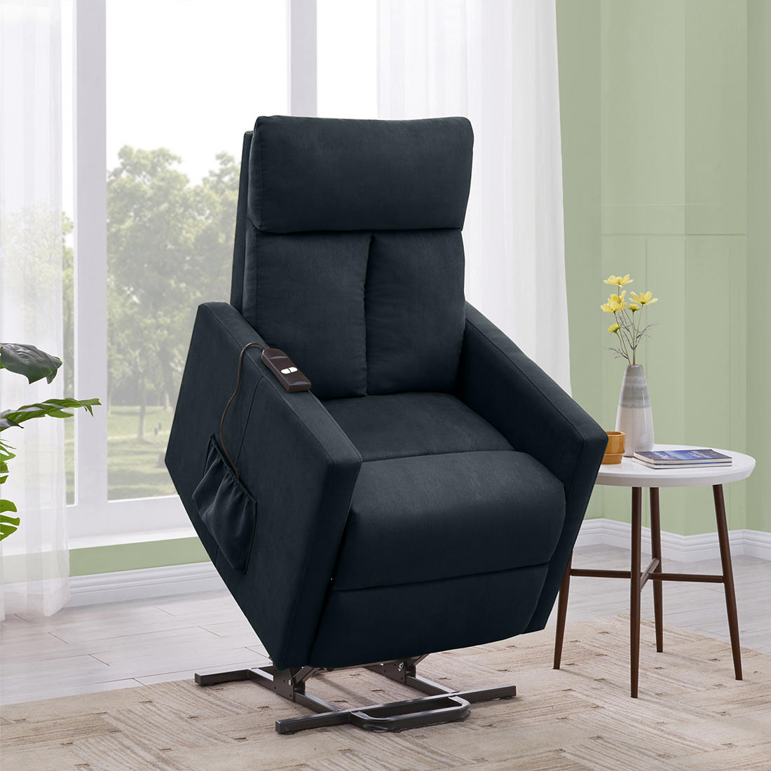 Magnificent Prolounger Power Lift Recliner Blue Ibusinesslaw Wood Chair Design Ideas Ibusinesslaworg