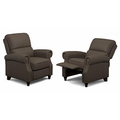 ProLounger Push Back Recliner, 2 pk. - Brown