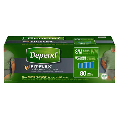 Depend FIT-FLEX Incontinence Underwear for Men with Maximum Absorbency