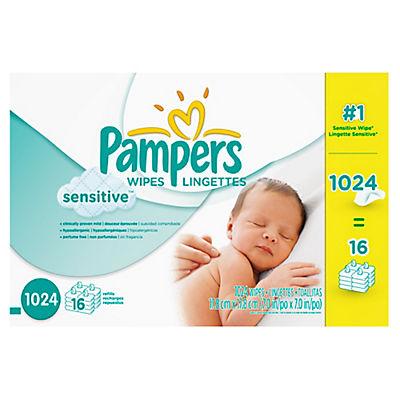 Pampers Sensitive Skin Baby Wipe Refills, 1,024 ct.