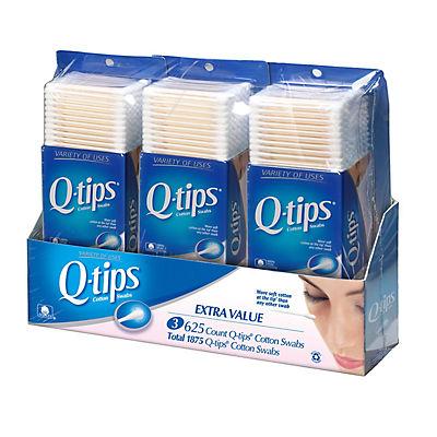 Q-Tip Cotton Swabs, 3 pk./625 ct.