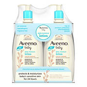 Aveeno Baby Daily Moisture Lotion, For Delicate Skin, Fragrance Free, 2 pk./18 fl. oz