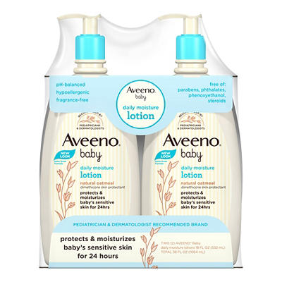 Aveeno Baby Daily Moisture Lotion, For Delicate Skin, Fragrance Free,