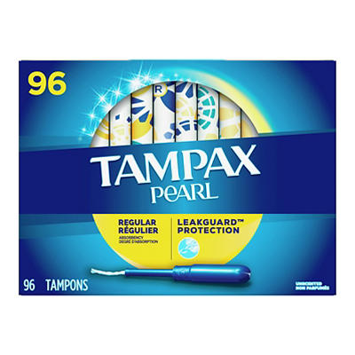 Tampax Pearl Regular Unscented Tampons, 96 ct.