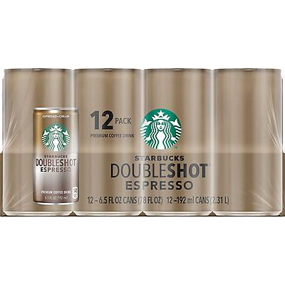 Starbucks Doubleshot Espresso Coffee, 12 pk.