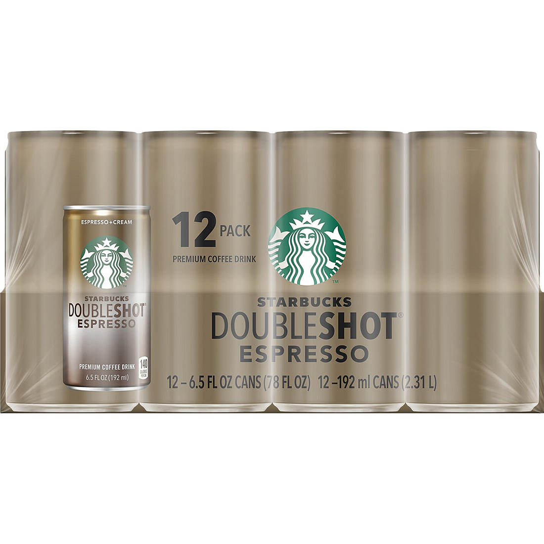 Starbucks Doubleshot Espresso Coffee 12 Pk Bjs Wholesale