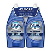 Dawn Platinum Refreshing Rain Dishwashing Liquid Dish Soap, 2 pk./40 fl. oz.