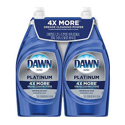 Dawn Platinum Refreshing Rain Dishwashing Liquid Dish Soap, 2 pk./40 f