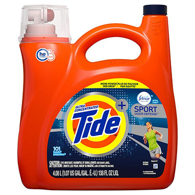Tide With Febreze Sport Odor Defense Ultra Concentrated Liquid Laundry