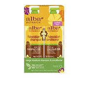 Alba Botanica Drink It Up Coconut Milk Hawaiian Shampoo and Conditioner, 2 pk./24 oz.
