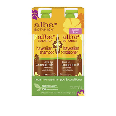 Alba Botanica Drink It Up Coconut Milk Hawaiian Shampoo and Conditione