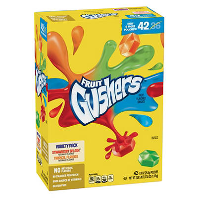 Gushers Fruit Snacks Variety Pack, 42 pk./0.9 oz.