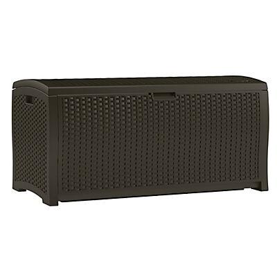 Suncast 99-Gal. Resin Wicker Deck Box - Brown
