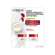 L'Oreal REVITALIFT Anti-Wrinkle and Firming Day Moisturizer, 2 pk./1.7 oz.