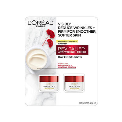 L'Oreal REVITALIFT Anti-Wrinkle and Firming Day Moisturizer, 2 pk./1.7