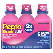 Pepto Bismol Original Flavor Liquid Ultra, 3 ct.