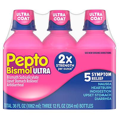 Pepto Bismol Ultra Liquid, 3 pk./12 fl. oz.