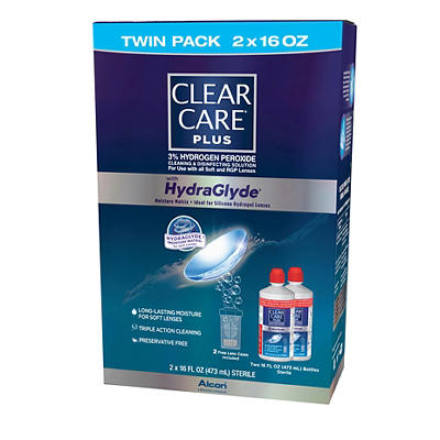 Clear Care Plus Contact Lens Solution, 2 pk./16 oz.