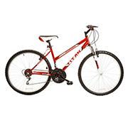 "Titan Pathfinder Women's 26"" 18-Speed All-Terrain Mountain Bike - Red"