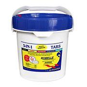 Robelle 5-in-1 Multipurpose Chlorine Tabs, 10 lbs.