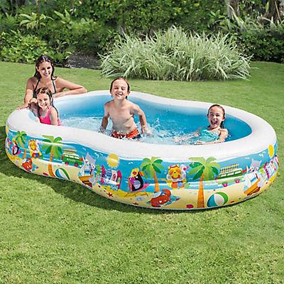 "Intex 5.5' x 9' x 18"" Inflatable Swimming Pool - Paradise Seaside"