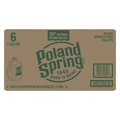 Poland Spring 100% Natural Spring Water, 6 pk./1 gal.