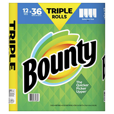 Bounty Select-A-Size Triple Roll Paper Towels, 12 pk. - White
