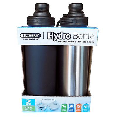 Subzero Double Wall Stainless Steel Hydro Bottle, 2 pk.