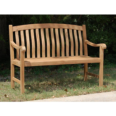 Crestwood Teak Patio Bench - Brown