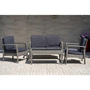 Atlantic Fiji Deluxe 4-Pc. Patio Set - Gray