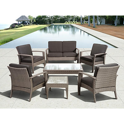 Atlantic Fiji Deluxe 7-Pc. Patio Set - Gray
