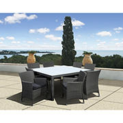 Atlantic Panama Deluxe 9-Pc. Outdoor Dining Set - Gray