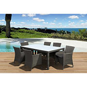 Atlantic Panama Deluxe 7-Pc. Outdoor Dining Set - Gray