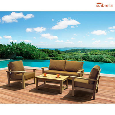 Amazonia Santa Lucia 4-Pc. Teak Patio Set - Brown