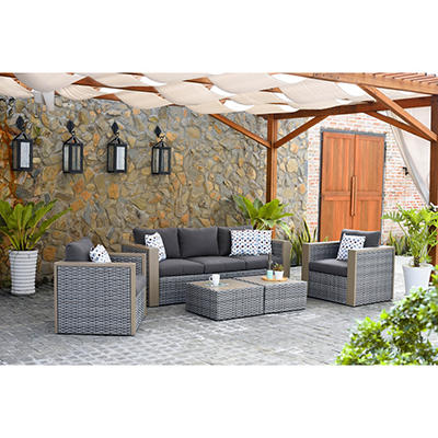 Atlantic Mumbai 5-Pc. Patio Set - Gray