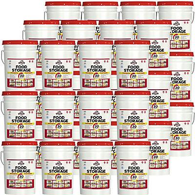 Augason Farms Food Storage Emergency Pail Kit, 1 Year, 3 People