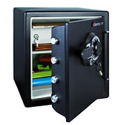 SentrySafe Fire and Water-Resistant Safe with Combination Lock 1.2 Cu.Ft - Black