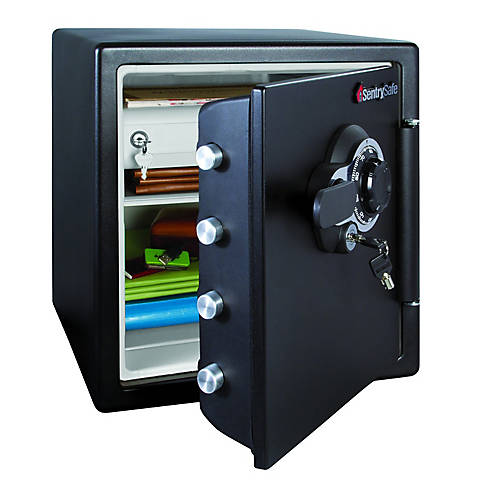 Sentrysafe Fire And Water Resistant Safe With Combination Lock 1 2